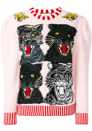 Gucci Tiger intarsia sweater - Multicolour