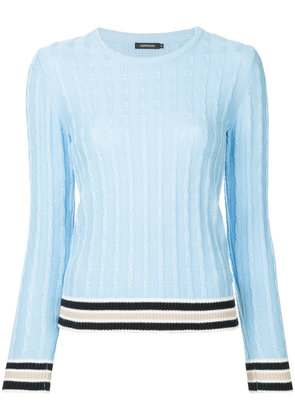 Loveless cable-knit jumper - Blue