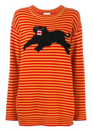 Gucci striped panther jumper - Yellow & Orange