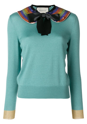 Gucci bow jumper - Blue