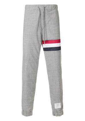 Thom Browne signature stripe lounge trousers - Grey