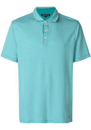 Michael Michael Kors micro-striped polo shirt - Green