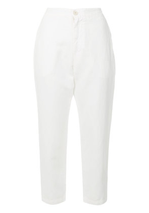 Eleventy high-waisted cropped trousers - White