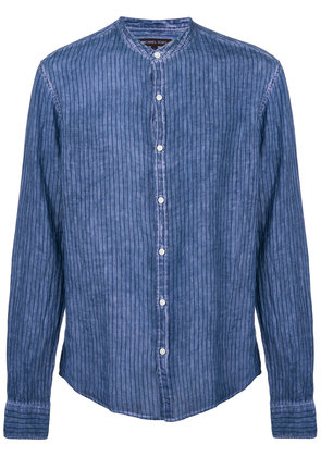 Michael Michael Kors striped mandarin-collar shirt - Blue