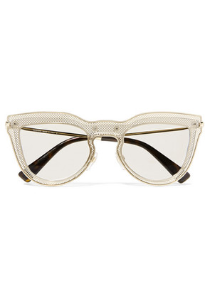 Valentino - Valentino Cat-eye Layered Acetate And Gold-tone Optical Glasses - one size
