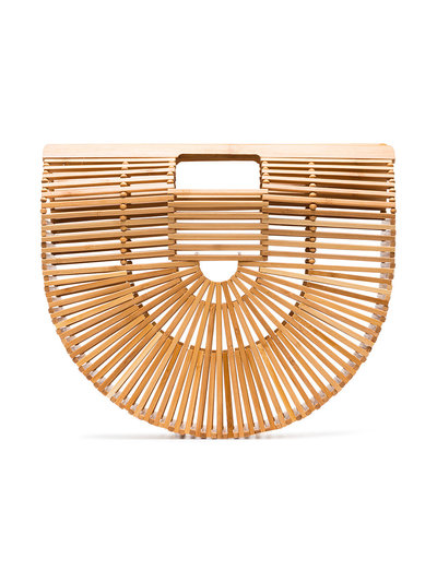 Brown Ark large bamboo bag - Nude & Neutrals Cult Gaia 0oweOZ