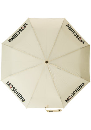 Moschino logo print umbrella - Nude & Neutrals
