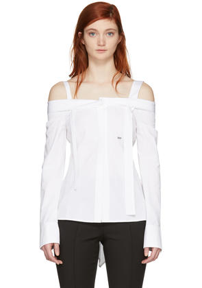 Off-white White off Off-the-shoulder Shirt