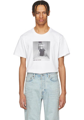 Helmut Lang White Carrie Mae Weems Edition untitled woman Standing Alone 1990 T-shirt
