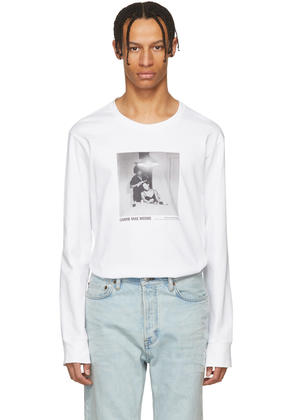Helmut Lang White Carrie Mae Weems Edition untitled woman Brushing Hair 1990 T-shirt