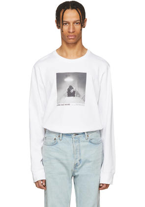 Helmut Lang White Carrie Mae Weems Edition untitled man Reading Newspaper 1990 T-shirt