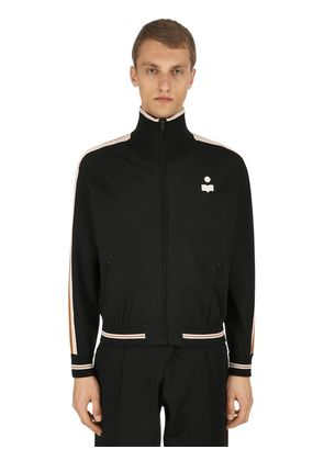 DANI ZIP-UP VISCOSE JERSEY TRACK JACKET