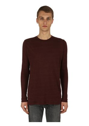 KINDAN LINEN JERSEY LONG SLEEVE T-SHIRT