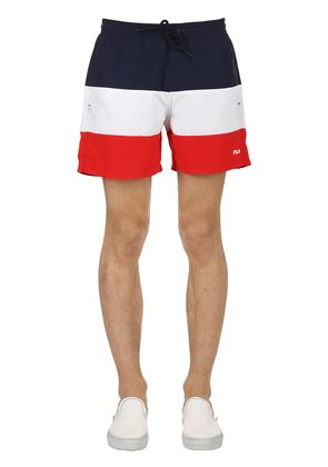 COLOR BLOCK LOGO SWIM SHORTS