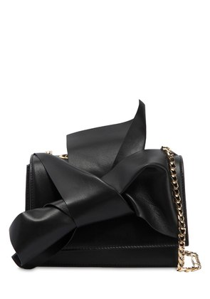SMALL BOW NAPPA LEATHER SHOULDER BAG