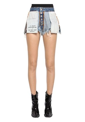 REVERSIBLE COTTON DENIM SHORTS