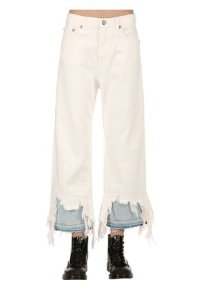 CAMILLE DISTRESSED DENIM JEANS