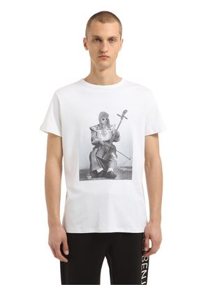 KURT COBAIN PRINTED COTTON T-SHIRT