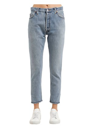 HIGH RISE ANKLE VINTAGE DENIM JEANS
