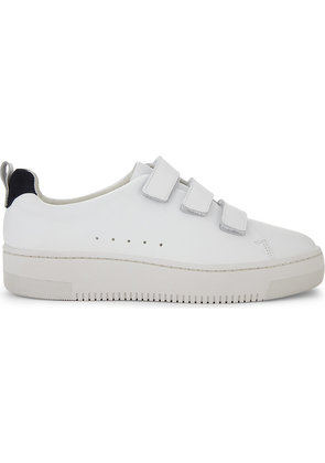 Leather low-top trainers