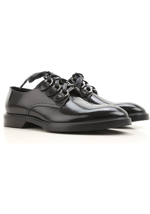 Dolce & Gabbana Lace Up Shoes for Men Oxfords, Derbies and Brogues On Sale, Black, Leather, 2017, 6.5 8