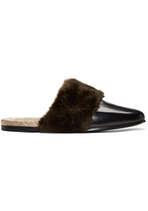 Gucci Black Faux-fur Lawrence Loafers