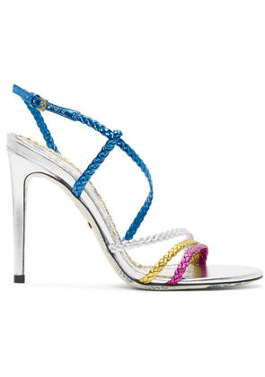 Gucci Multicolor Braided Haines Sandals