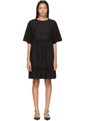 See By Chloé Black Lace Overlay Flowy Dress