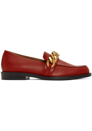 Givenchy Red Chain Line Loafers