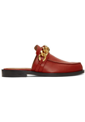 Givenchy Red Chain Line Slippers