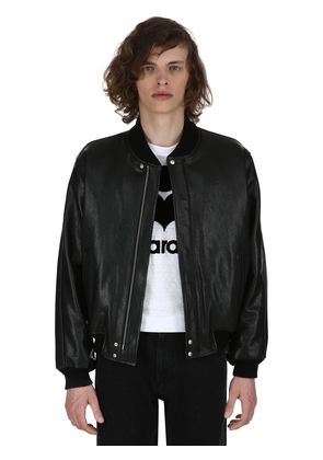 BLAIR LEATHER BOMBER JACKET