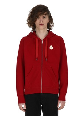 MERYL HOODED ZIP-UP COTTON SWEATSHIRT