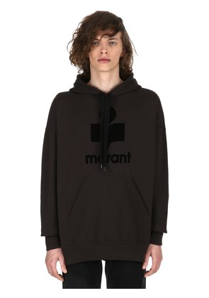 MILEY LOGO HOODED COTTON SWEATSHIRT