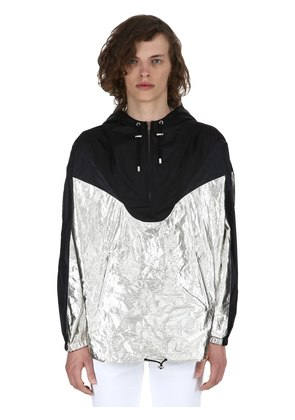 RICHIE METALLIC NYLON RAINCOAT