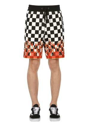 NITRO CHECKERED FLAMES COTTON SHORTS