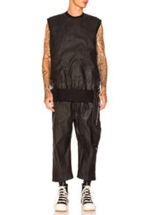Rick Owens Cargo Cropped Jumpsuit in Black