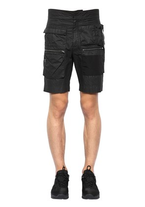 MULTI POCKET COTTON SHORTS