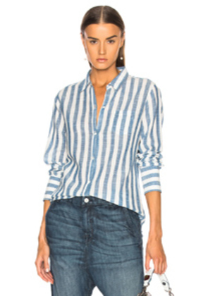 NILI LOTAN NL Shirt in Blue,Stripes,White
