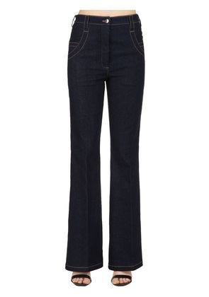 HIGH WAIST FLARED DENIM PANTS