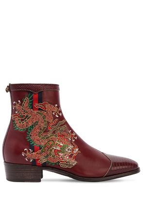 30MM PLATA DRAGON LEATHER BOOTS