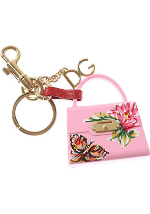 Dolce & Gabbana Key Chain for Women, Key Ring On Sale, Rose, Resin, 2017