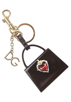 Dolce & Gabbana Key Chain for Women, Key Ring On Sale, Black, Resin, 2017