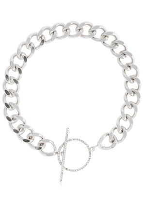 CHAIN NECKLACE W/ CRYSTAL TOGGLE