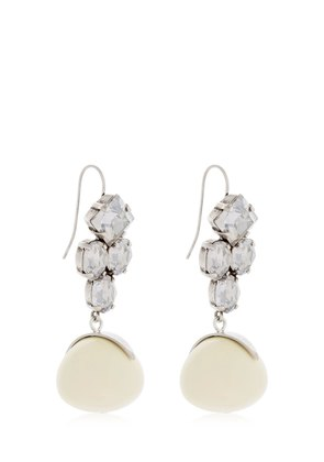 CRYSTAL EARRINGS W/ BEAD