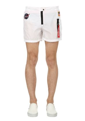 BOMBER PATCHES MICRO FIBER SWIM SHORTS