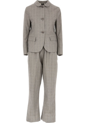 Aspesi Women's Suit, Grey, Cotton, 2017, 10 14 8