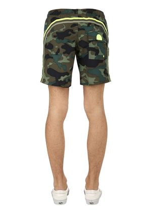 16' CAMO PRINT NYLON SWIM SHORTS