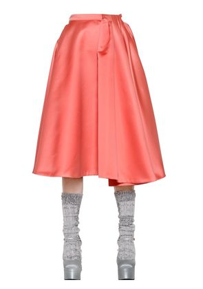 DUCHESSE SKIRT WITH PLEATED SECTION