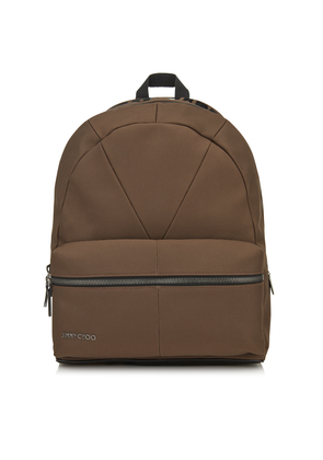 REED Cacao Canvas and Woven Nylon Backpack