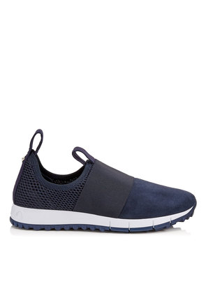 OAKLAND/F Navy Mesh and Suede Trainers